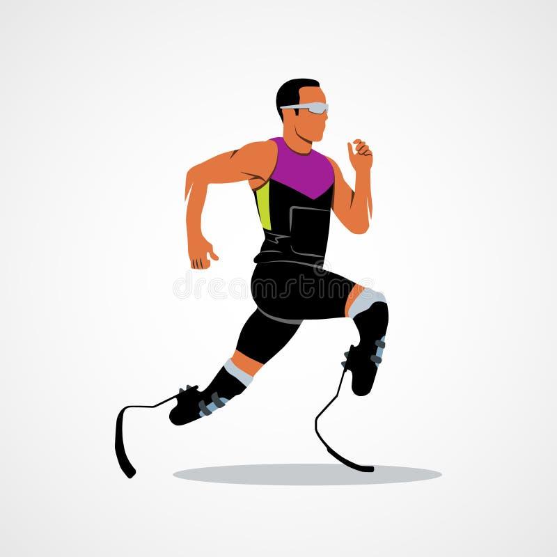 Icono del corredor del atleta ilustración del vector
