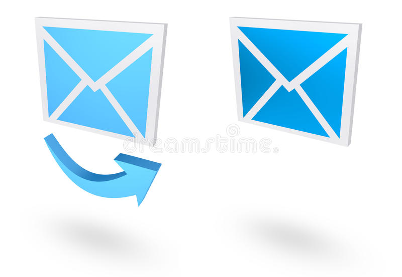 Icono del correo imagen de archivo libre de regalías