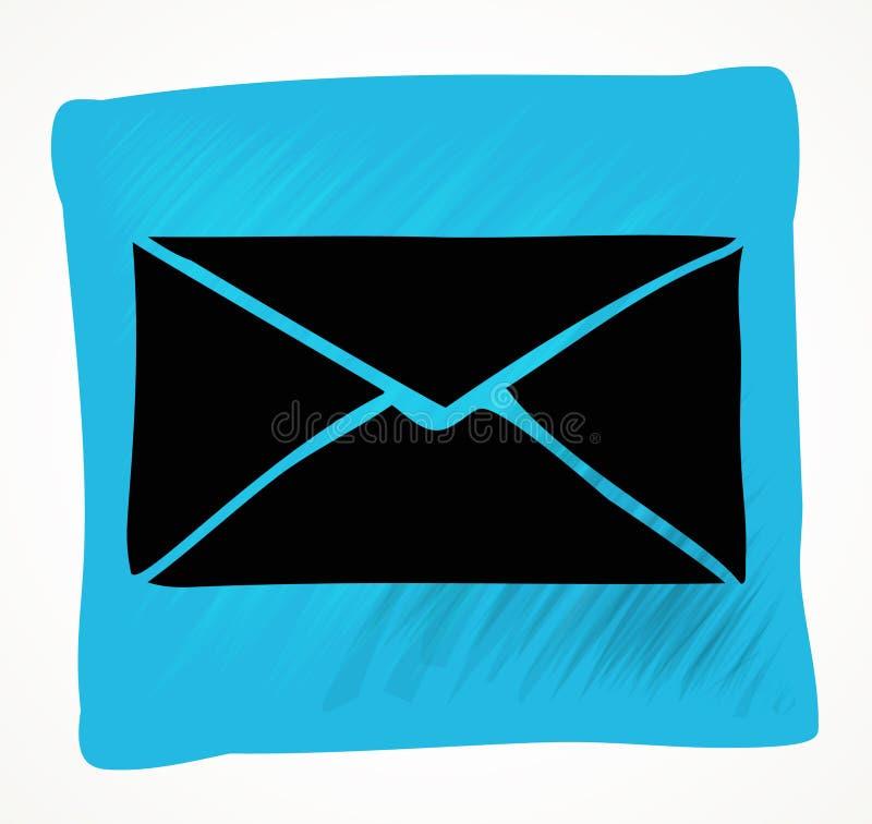 Icono del correo del vector con el fondo blanco libre illustration