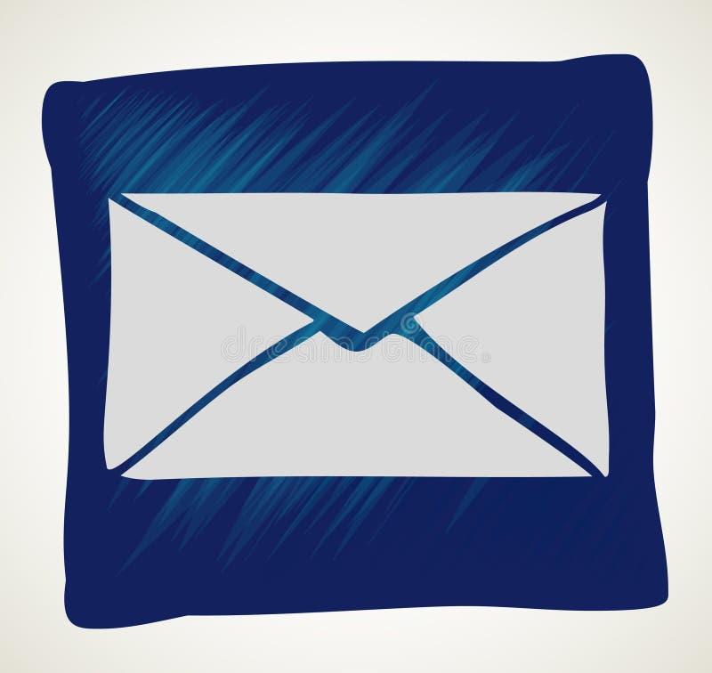 Icono del correo del vector con el fondo blanco ilustración del vector