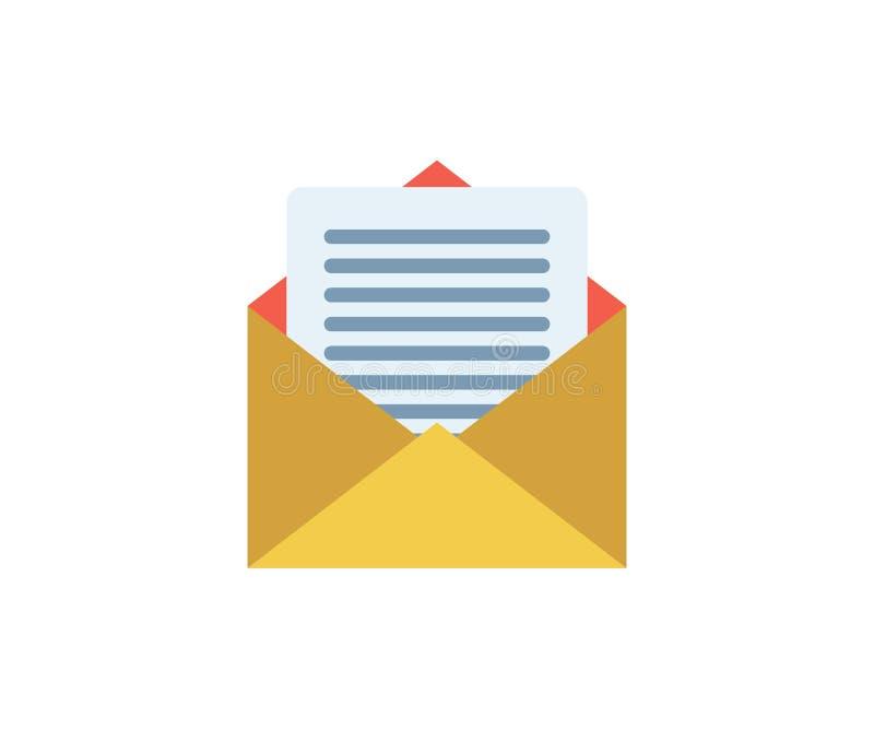 Icono del correo Ejemplo del vector en estilo minimalista plano libre illustration