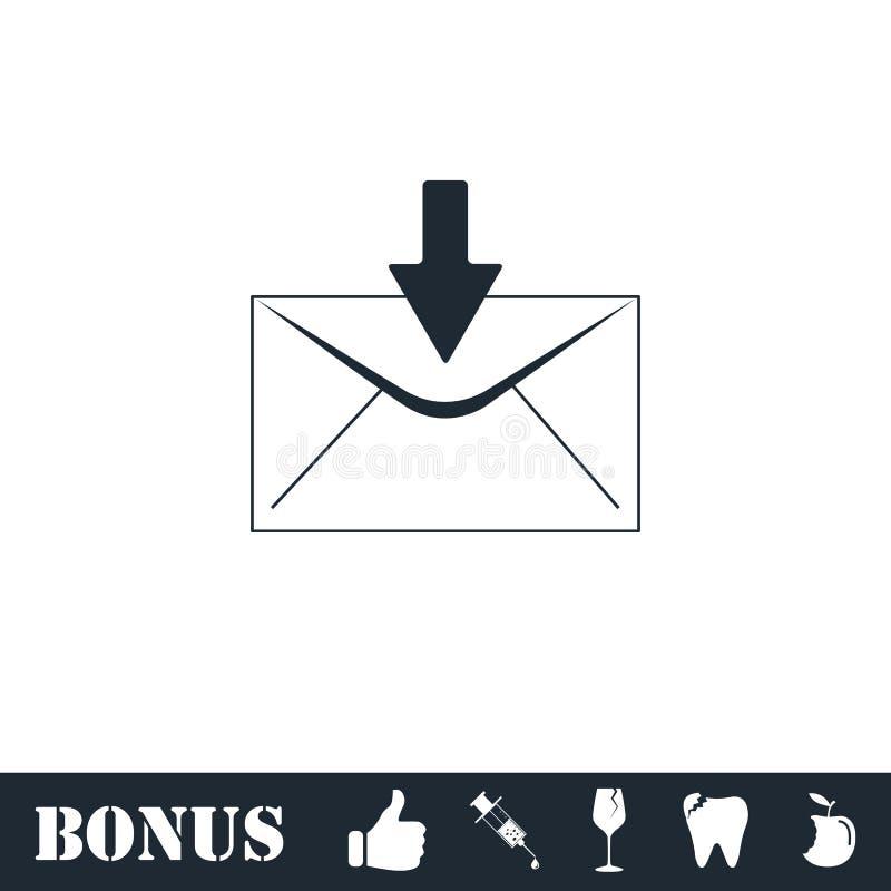 Icono del correo electr?nico plano ilustración del vector