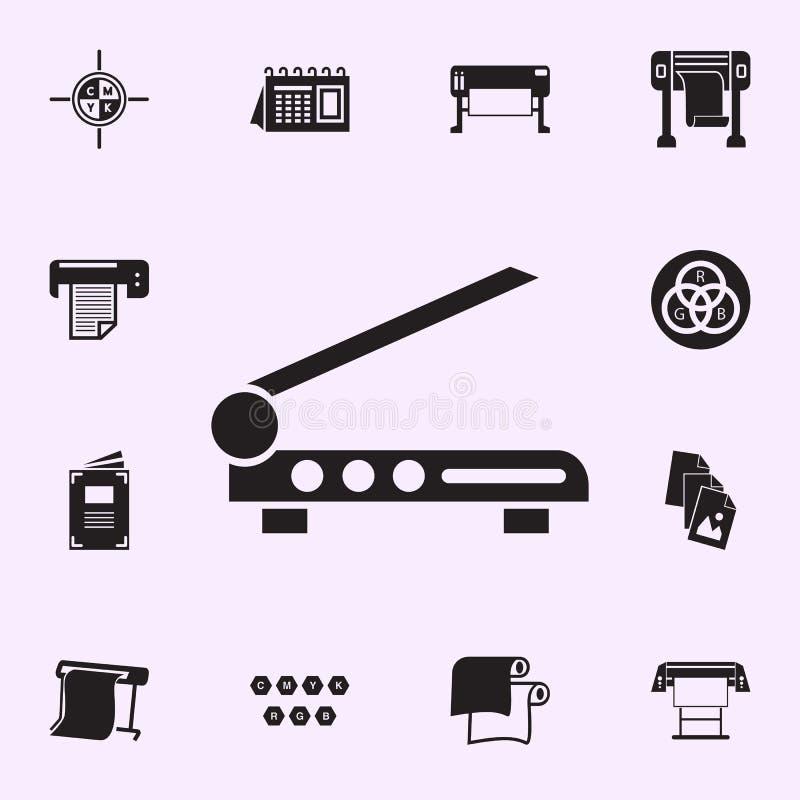 icono del cortador del filo Sistema universal de los iconos de la casa de la impresi?n para la web y el m?vil ilustración del vector