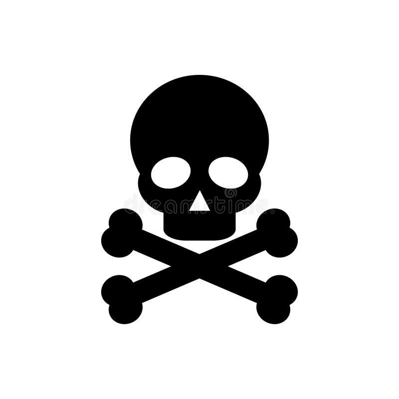 Icono del cráneo y de los huesos aislado - png libre illustration