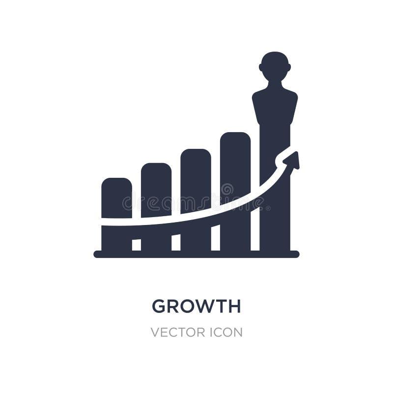 icono del crecimiento en el fondo blanco Ejemplo simple del elemento del concepto de la economía de Digitaces ilustración del vector