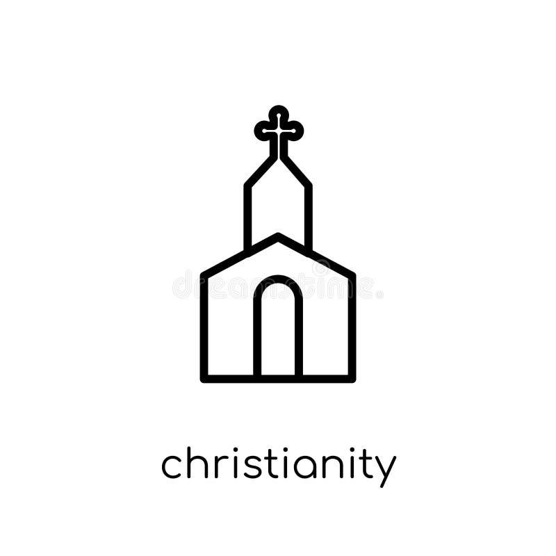 Icono del cristianismo Cristianismo linear plano moderno de moda del vector ilustración del vector