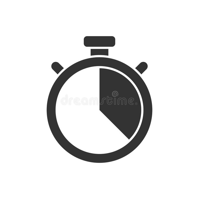 Icono del cronómetro stock de ilustración