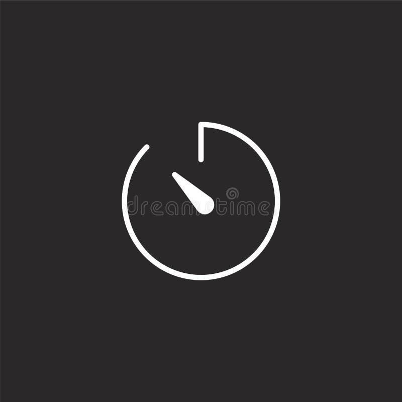 Icono del cron?metro Icono llenado del cronómetro para el diseño y el móvil, desarrollo de la página web del app icono del cronóm ilustración del vector