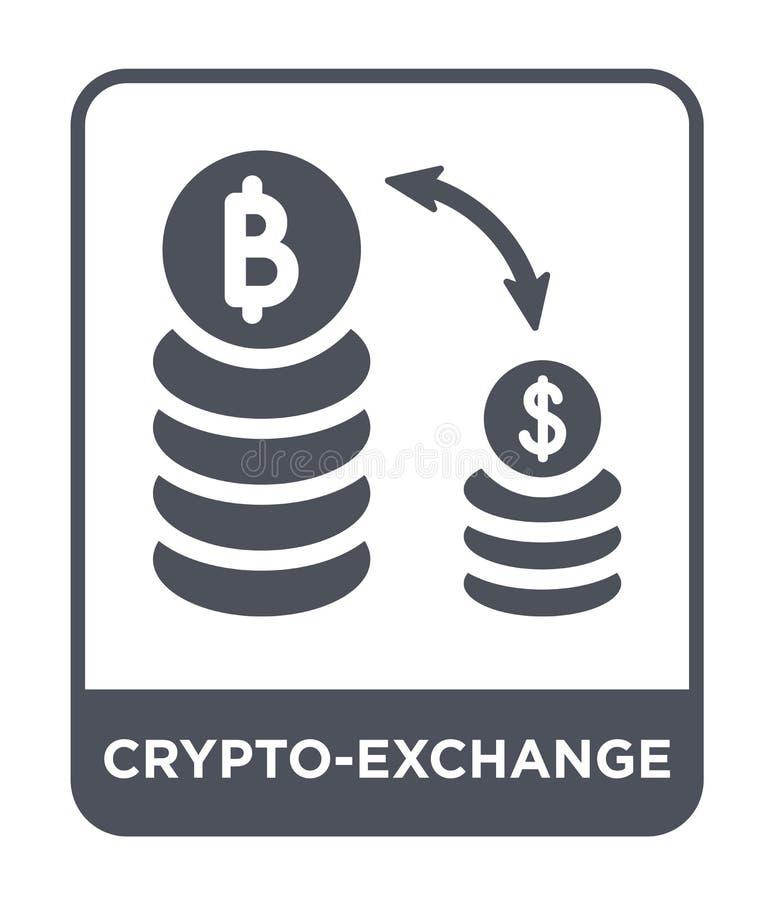 icono del crypto-intercambio en estilo de moda del diseño icono del crypto-intercambio aislado en el fondo blanco icono del vecto ilustración del vector
