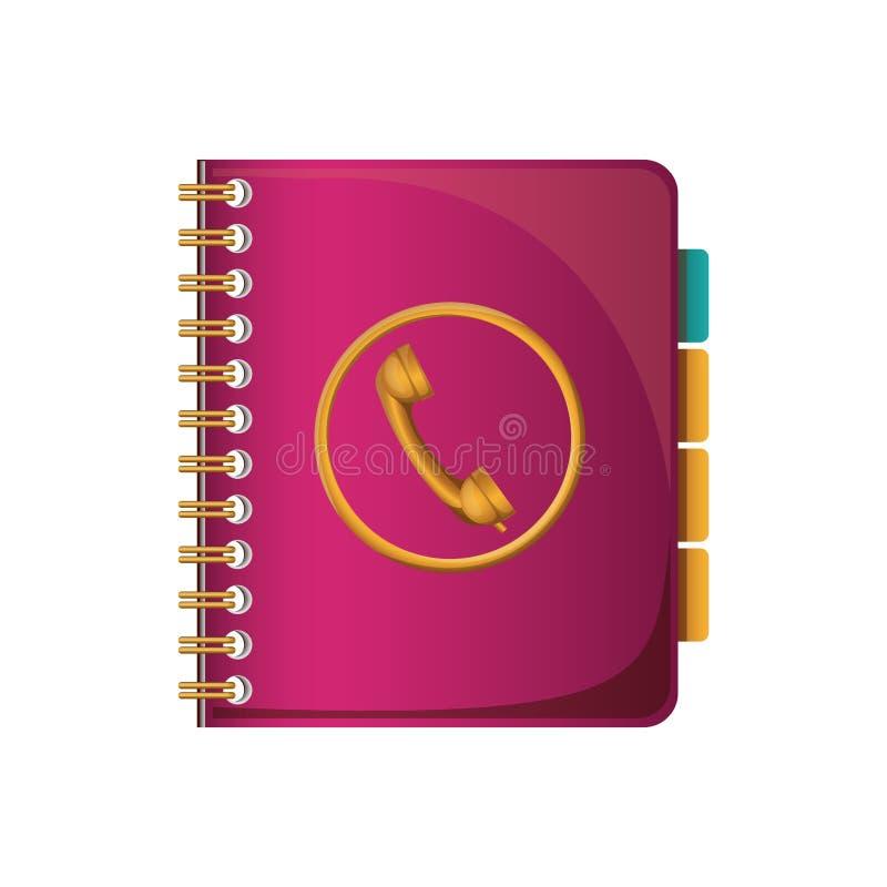 Icono del cuaderno del directorio libre illustration