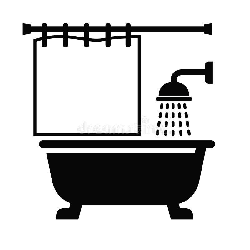 Icono del cuarto de baño ilustración del vector