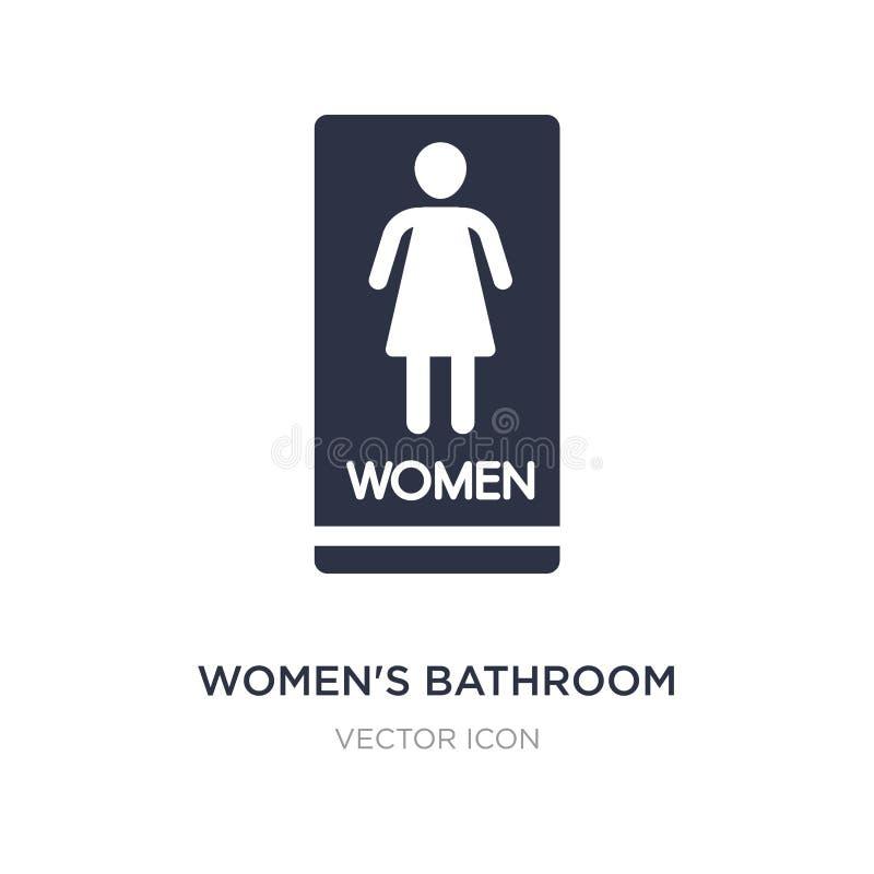 icono del cuarto de baño de las mujeres en el fondo blanco Ejemplo simple del elemento del otro concepto ilustración del vector