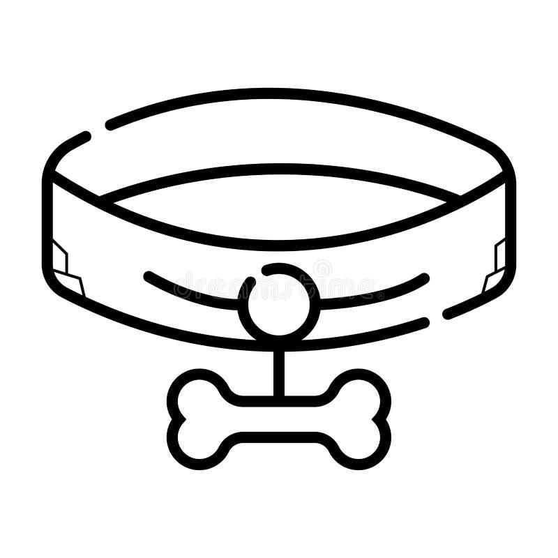 Icono del cuello de perro stock de ilustración