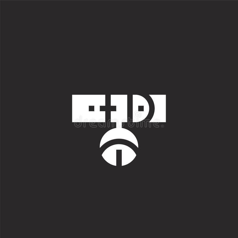Icono del cuello Icono llenado del cuello para el diseño y el móvil, desarrollo de la página web del app el icono del cuello de l stock de ilustración