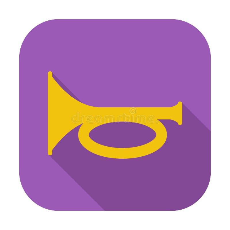 Icono del cuerno stock de ilustración