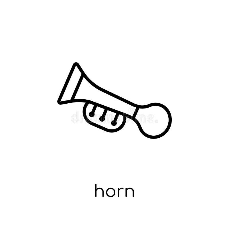 Icono del cuerno de la colección libre illustration