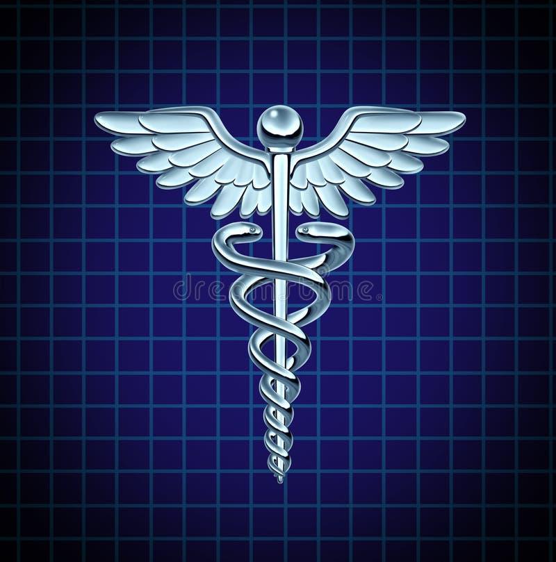 Icono del cuidado médico del caduceo libre illustration
