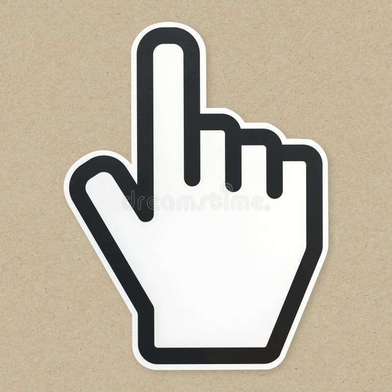 Icono del cursor de la flecha del ordenador aislado imagenes de archivo
