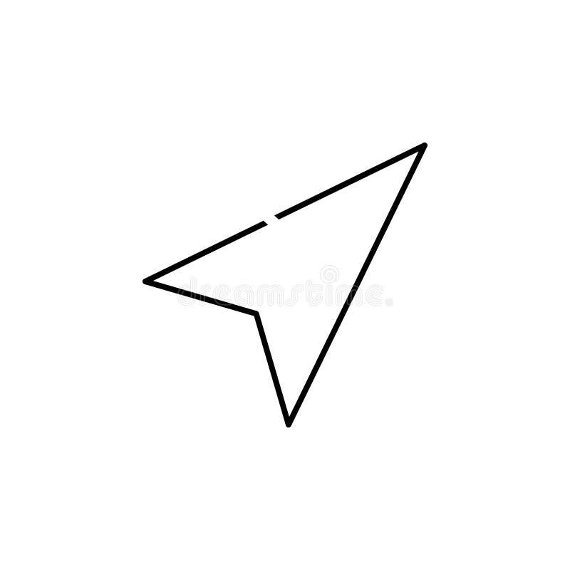 Icono del cursor Elemento del icono simple en el estilo material para los apps móviles del concepto y del web Línea fina icono pa stock de ilustración