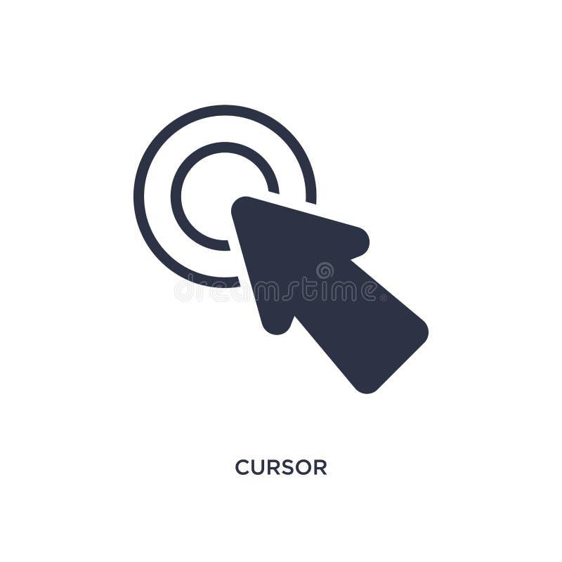 Icono del cursor en el fondo blanco Ejemplo simple del elemento del concepto de la interfaz de usuario libre illustration