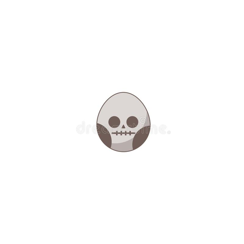 Icono del día de fiesta de Halloween, icono del cráneo libre illustration