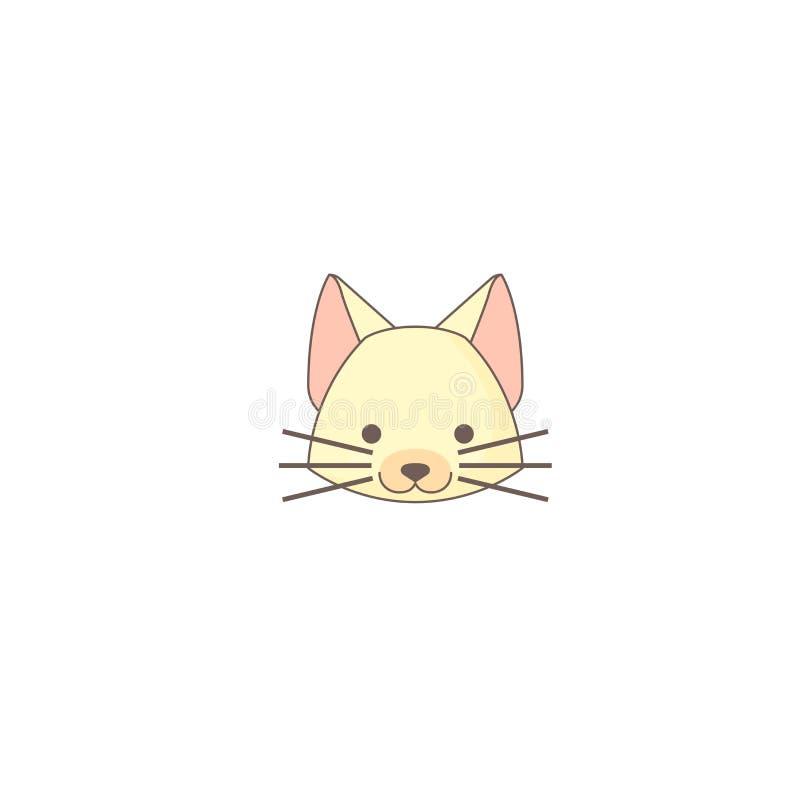 Icono del día de fiesta de Halloween, icono del gato libre illustration