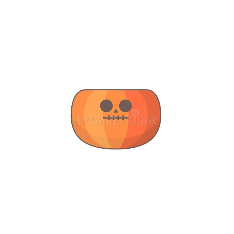 Icono del día de fiesta de Halloween, icono de la calabaza stock de ilustración