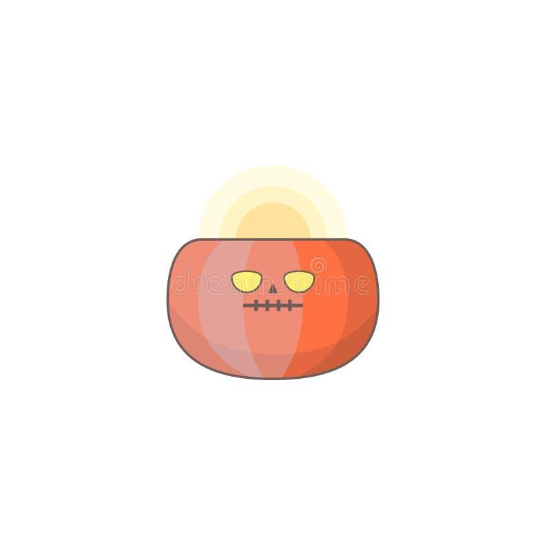 Icono del día de fiesta de Halloween, icono de la calabaza ilustración del vector