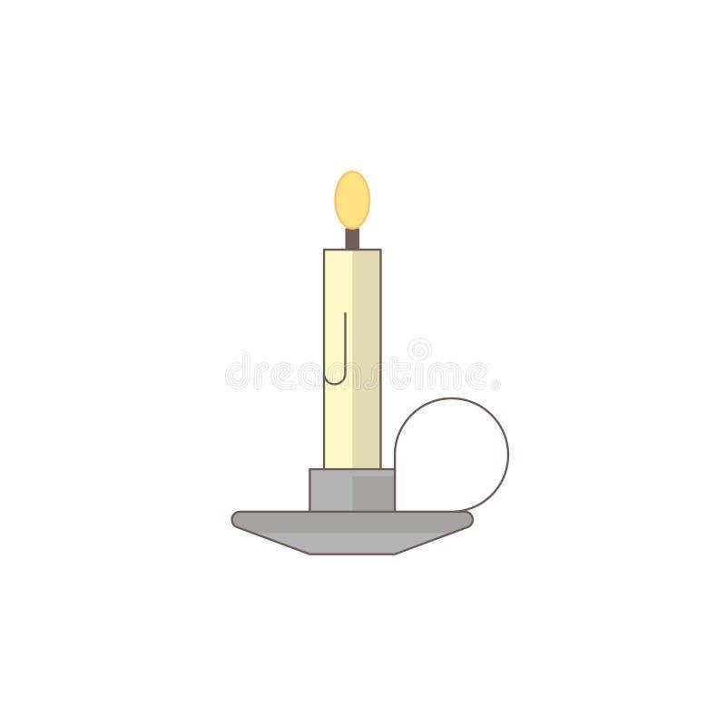 Icono del día de fiesta de Halloween, icono de la vela libre illustration