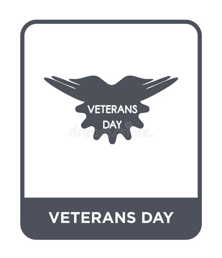 icono del día de veteranos en estilo de moda del diseño icono del día de veteranos aislado en el fondo blanco icono del vector de libre illustration