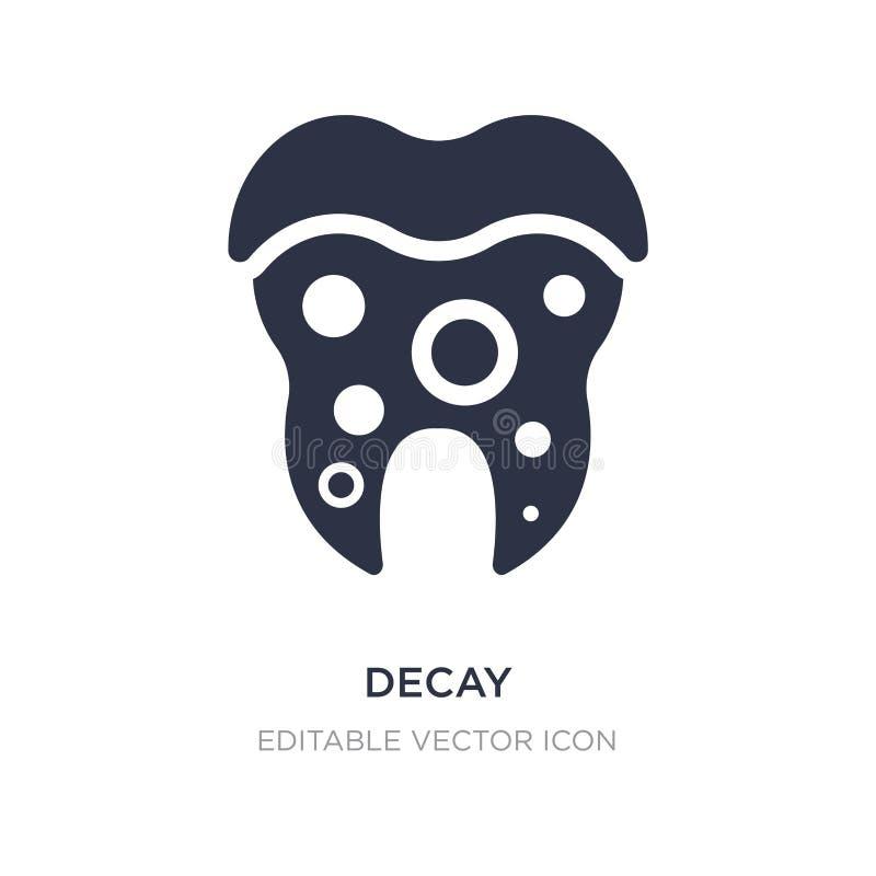 icono del decaimiento en el fondo blanco Ejemplo simple del elemento del concepto del dentista libre illustration
