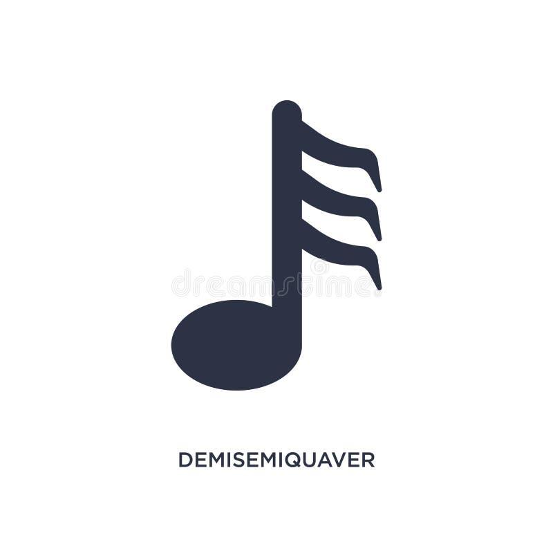 icono del demisemiquaver en el fondo blanco Ejemplo simple del elemento de la música y del concepto de los medios stock de ilustración