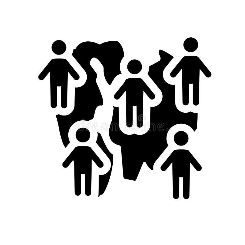 Icono del Demographics Concepto de moda del logotipo del Demographics en el CCB blanco stock de ilustración
