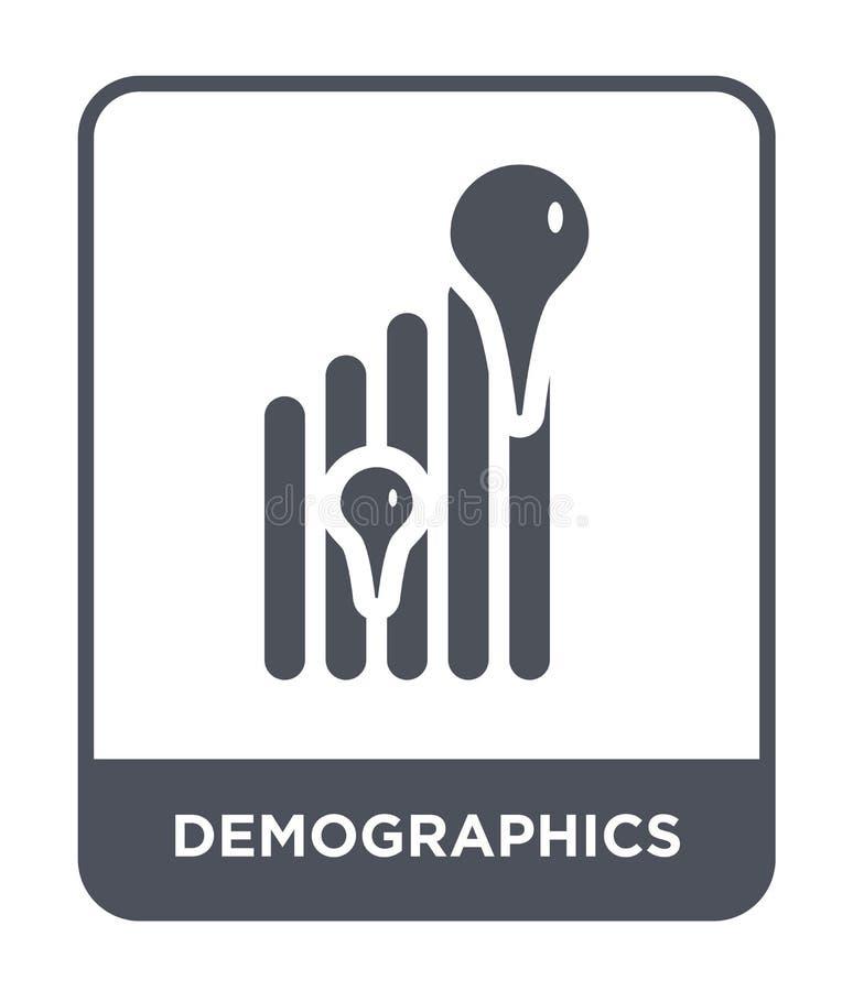 icono del demographics en estilo de moda del diseño icono del demographics aislado en el fondo blanco icono del vector del demogr libre illustration