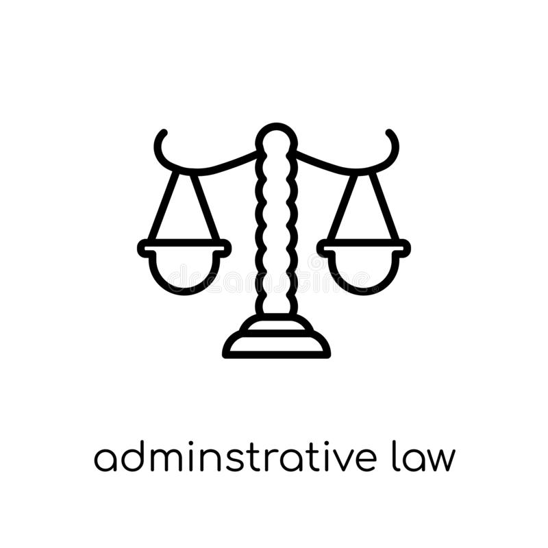 icono del derecho administrativo Adminst linear plano moderno de moda del vector libre illustration