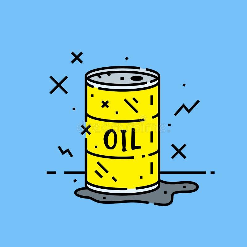 Icono del derramamiento del barril de aceite libre illustration
