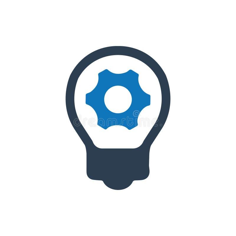 Icono del desarrollo de la idea ilustración del vector