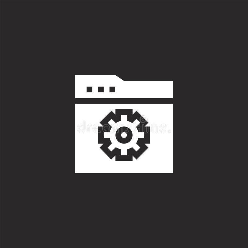 Icono del desarrollo Icono llenado del desarrollo para el diseño y el móvil, desarrollo de la página web del app icono del desarr libre illustration