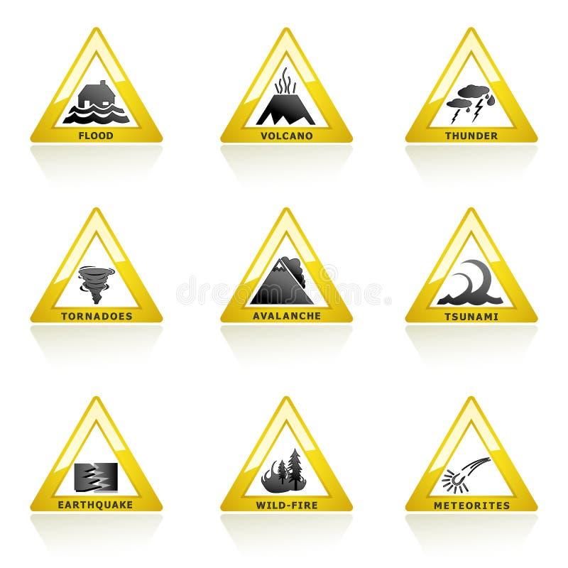 Icono del desastre natural ilustración del vector
