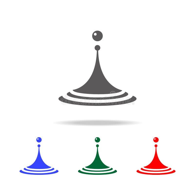 Icono del descenso del agua Elementos en los iconos coloreados multi para los apps móviles del concepto y del web Iconos para el  stock de ilustración