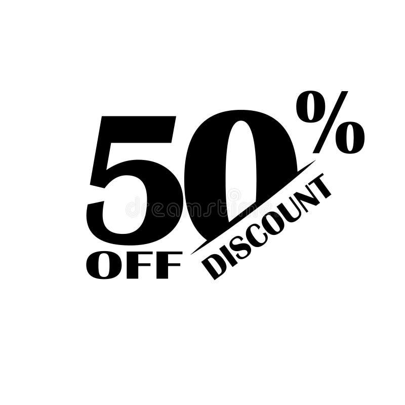 Icono del descuento de las ventas Precio de oferta especial el 50 por ciento - vector ilustración del vector
