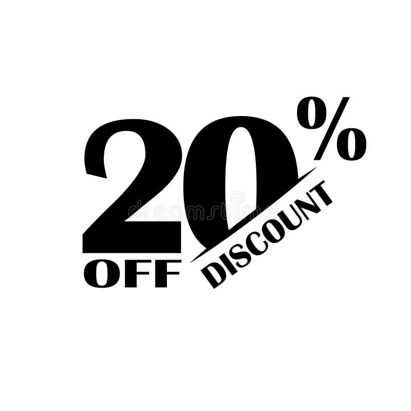 Icono del descuento de las ventas Precio de oferta especial el 20 por ciento - vector ilustración del vector