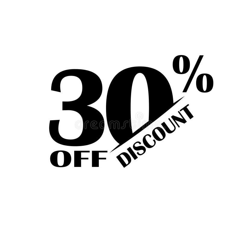 Icono del descuento de las ventas Precio de oferta especial el 30 por ciento - vector stock de ilustración