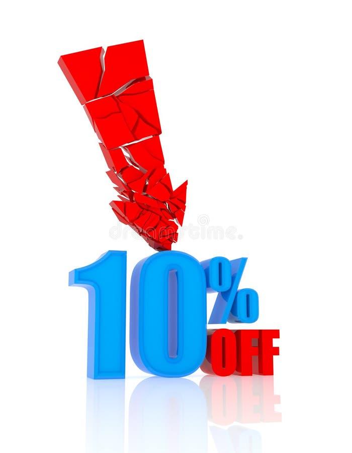 icono del descuento del 10% stock de ilustración