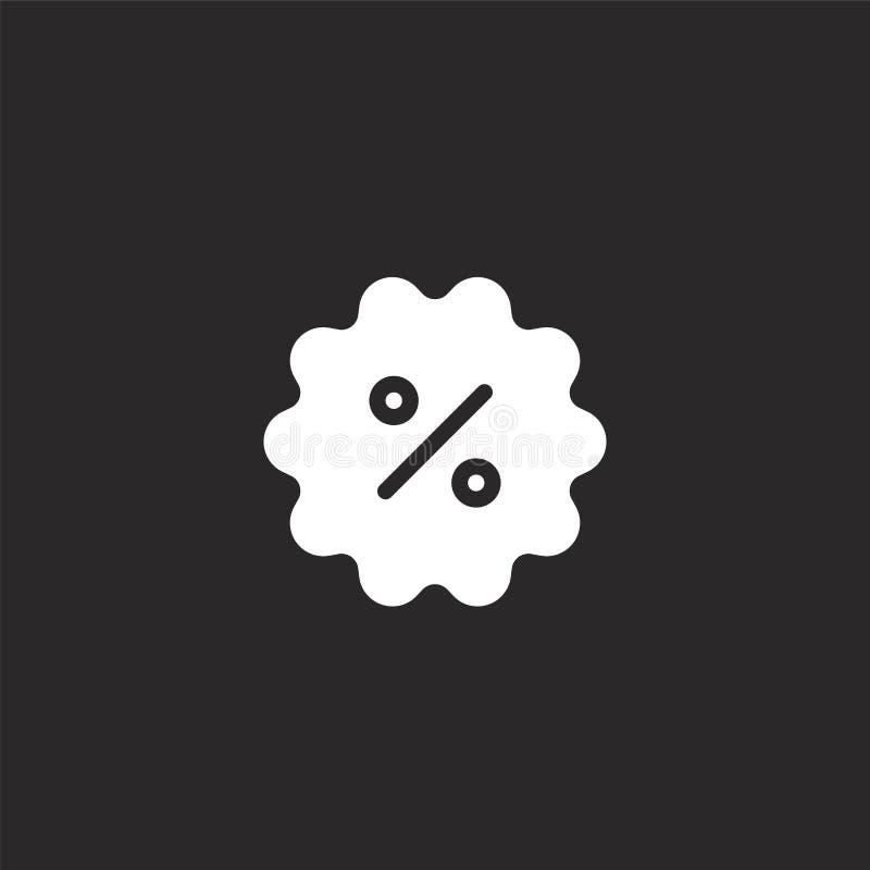 Icono del descuento Icono llenado del descuento para el diseño y el móvil, desarrollo de la página web del app icono del descuent ilustración del vector