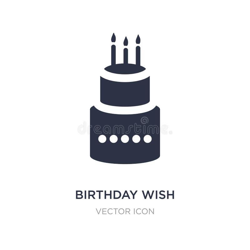icono del deseo del cumpleaños en el fondo blanco Ejemplo simple del elemento del concepto del partido libre illustration