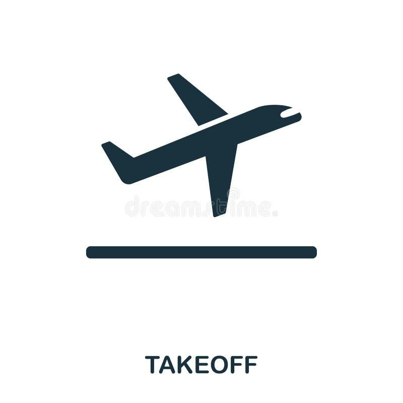 icono del despegue Línea diseño del icono del estilo Ui Ejemplo del icono del despegue pictograma aislado en blanco Listo para ut libre illustration