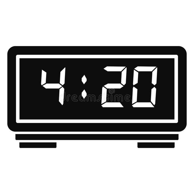 Icono del despertador de Digitaces, estilo simple stock de ilustración