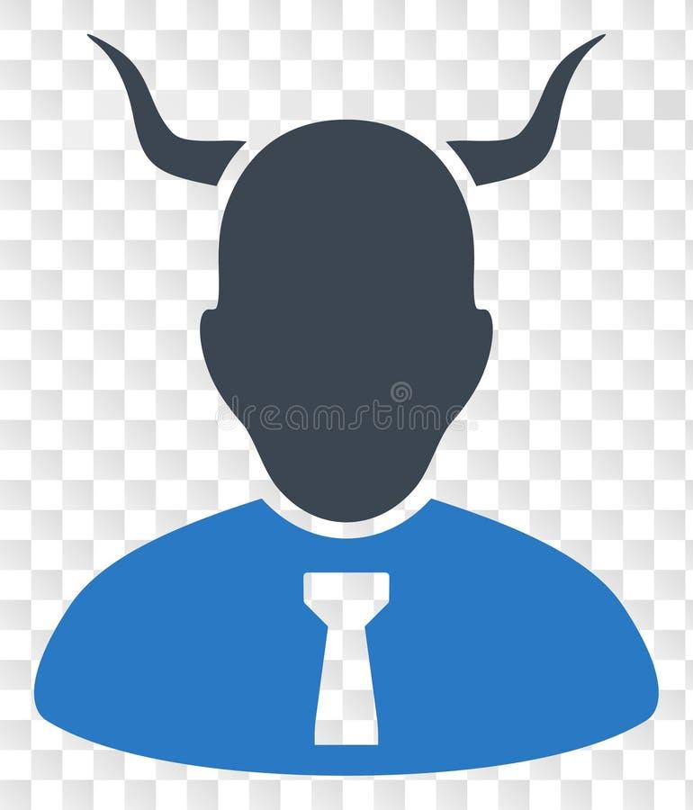 Icono del diablo del vector en fondo transparente del ajedrez ilustración del vector
