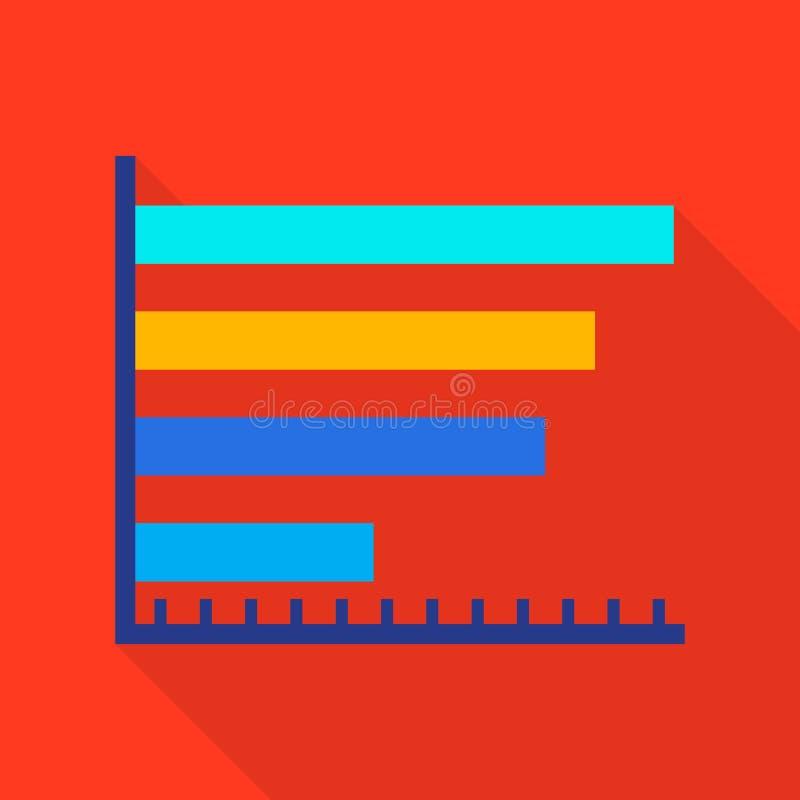 Icono del diagrama de columna, estilo plano libre illustration